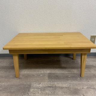テーブル 折り畳み コンパクト 木目調 ロータイプ 菊 MZ