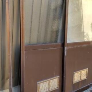 DIY アルミサッシ 出入口用二連引き違い戸