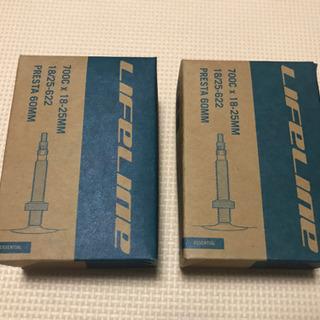 仏式 ロードインナーチューブ 700x18/25C 60mm 2...