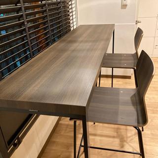 【オカムラ】アルトピアッツァ〈Alt Piazza〉ハイテーブル&チェア(カウンターテーブル)3点セット - 川崎市