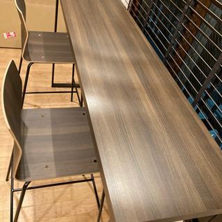 【オカムラ】アルトピアッツァ〈Alt Piazza〉ハイテーブル&チェア(カウンターテーブル)3点セット - 家具