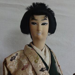日本人形 珍しい 着物 男性 侍 昭和 置物 インテリア