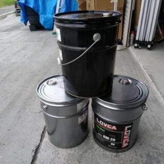 ★あげます★20Lペール缶 ・スチール缶★工作・ゴミ箱に、ロケッ...