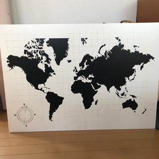 IKEA 世界地図 壁掛けアートパネル
