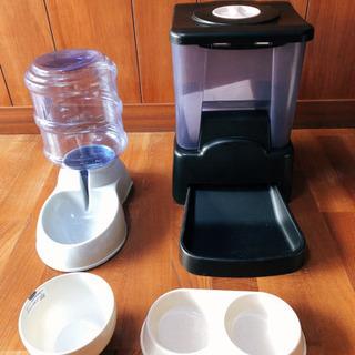 【ネット決済】ペット自動餌やり器、給水器、ツインペット皿 セット
