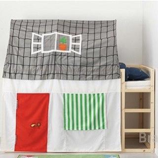 【取引中】IKEA 二段ベッド テント付き KURA 秘密基地 ...