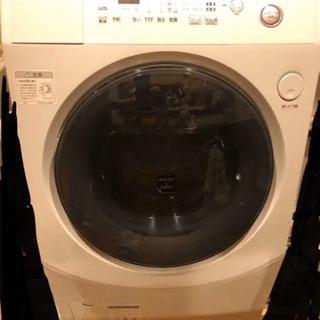 【ネット決済・配送可】シャープ製!ドラム式洗濯機