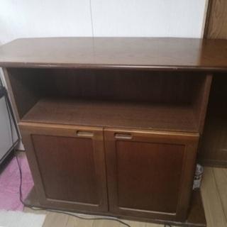 木製カウンターテーブル おまけキャスター付き丸椅子スツール1脚