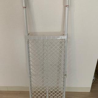 突っ張り式プラスチック製可変棚 最大90cn最小72cm - 大阪市