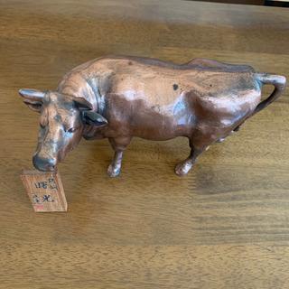 牛の置物 骨董品 鋳鋼 アンティーク − 宮城県