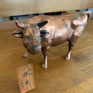 牛の置物 骨董品 鋳鋼 アンティーク - 仙台市