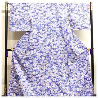 【ネット決済・配送可】 上質 正絹 レトロ デザイン 大サイズ ...