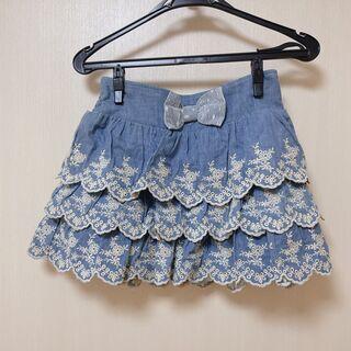 【LIZ LISA】デニムキュロットスカート