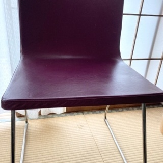 IKEA 椅子 ベルナード 紫