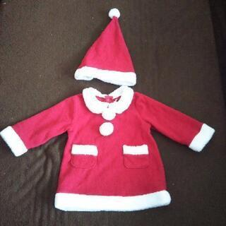【ネット決済】サンタクロース 帽子セットです。90サイズ