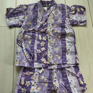 甚平 95 女の子 紫