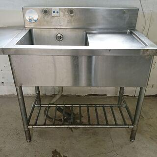 業務用 ステンレス 1槽シンク 作業台付き 流し台 厨房 …