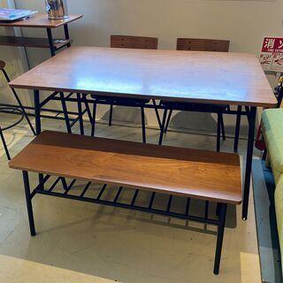 ダイニングテーブルセット ニトリ 4点セット 茶×黒 アイ…