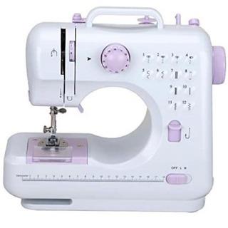 新品未使用 小型 ポータブル 12種の縫い目 家庭用ミシン 多機...