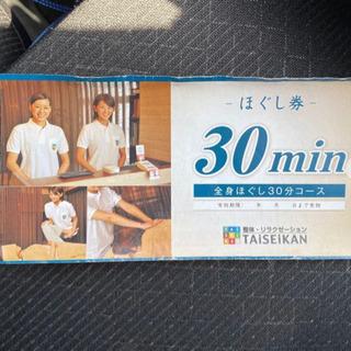 【ネット決済・配送可】TAiSEiKAN タイセイカン ほぐし券