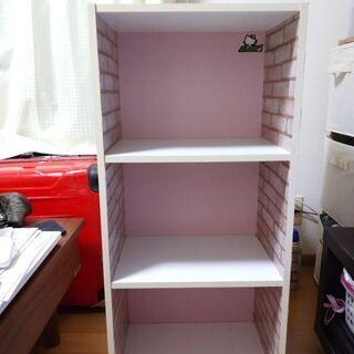 カラーボックス ホワイト×ピンク