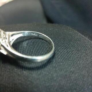 引取決定✨指輪プラチナエメラルド ダイヤ - 服/ファッション