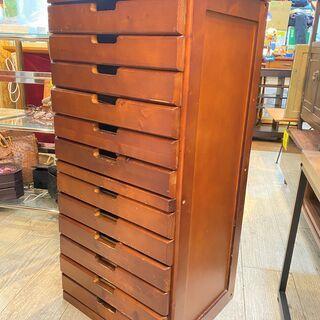 無垢材 12段 レターケース 木製 整理箱 収納 引き出し 書類...