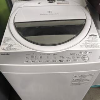 東芝 全自動洗濯機 6kg AW-6G6 グランホワイト …