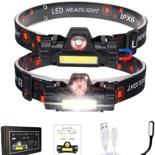 (新品)ヘッドライト 充電式 ledヘッドライト