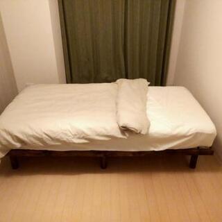 【替えシーツ付き】シングルベッド一式