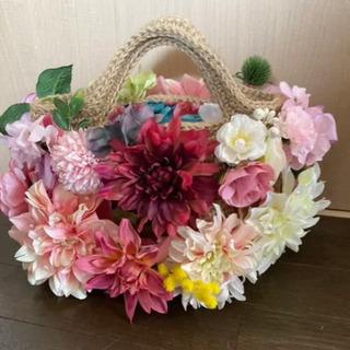 【ネット決済・配送可】花束を持ったようなフラワーバッグ