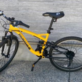 ほぼ新品4月購入1時間使用26インチ ハマー21段MTB 自転車...