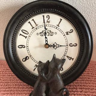 ✨アンティーク調の猫の時計✨