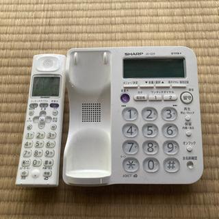 電話機 コードレス シャープ 説明書付き