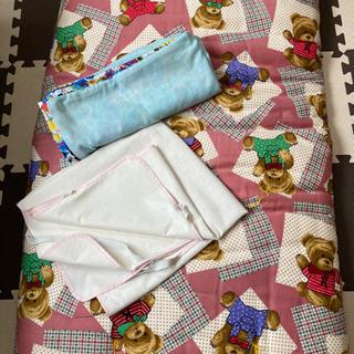お昼寝布団 防水シーツ 手作りカバー