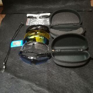 偏光レンズ スポーツサングラス フルセット