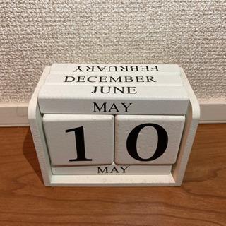 卓上カレンダー 木製