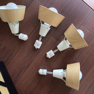 【4灯セット】ダクトレール用スポットライト(ナチュラルカラー)