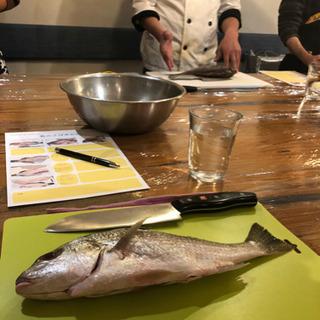 浦添の港川外人住宅のLimpidでの魚料理教室