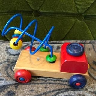 チャイルドフレンド 木製 おもちゃ 汽車 ルーピング 知恵遊び 指先