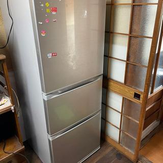 即決 冷蔵庫 スリードア 340L 3ドア 自動製氷機 2…
