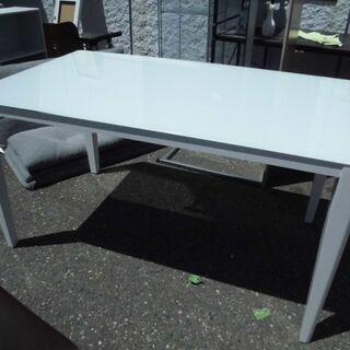 JM10867)あずま工芸 ダイニングテーブル ガラス天板…