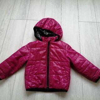 女の子90サイズ 濃いピンクコート