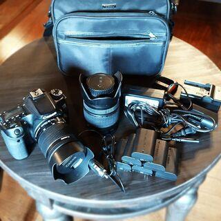 キャノン一眼レフ+広角レンズ+300mm望遠レンズ+バッテリー6...