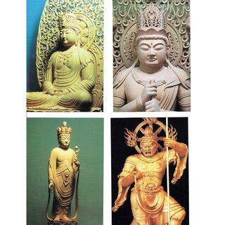 写真はがき「みほとけ1」 仏師岩松拾文の作品写真8枚組
