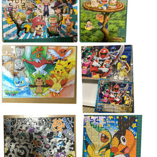 【ネット決済】パズル 6種類セット   ポケモン、ワンピース、ド...