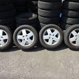 スズキ 純正アルミホイール+タイヤ4本 8分山 155/65R13