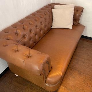 【ネット決済】革のしっかりとしたソファ