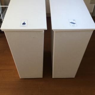 【受渡決定】キャスター付き 分別ゴミ箱