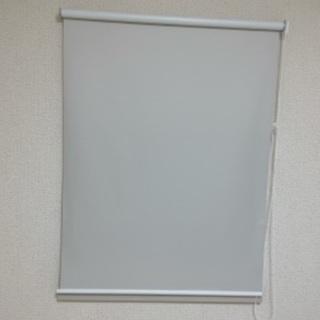遮光 ロールカーテン ホワイト 幅90 丈180